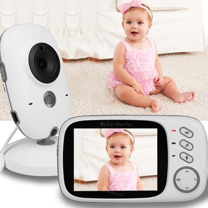 bilder für Fetal Doppler video kindermädchen 3,2 zoll LCD IR nachtsicht 2 way diskussion 8 lullabies Temperatur monitor baba elektronik doppler fetal