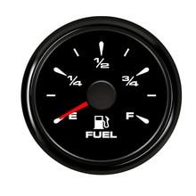 Нержавеющая Сталь 52 мм Автомобильный лодочный датчик уровня топлива 0~ 190 Ом датчик уровня топлива водонепроницаемый индикатор уровня масла с подсветкой