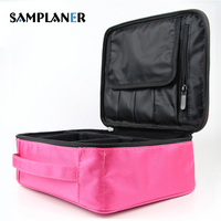 Women Makeup Bags Zipper Soft Cosmetic Bags Beauty Case Organizer Pink Black Case Large Kits Storage