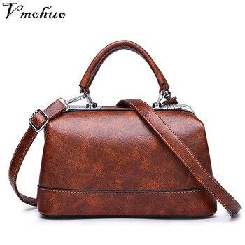 3a1f8edc63010 VMOHUO Yeni Yüksek Kalite Crossbody Çanta kadın postacı çantası için Katı  pu deri omuz çantası Kadın Çanta Kadın Çantası Bolsas