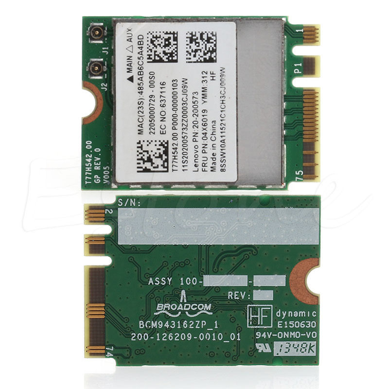 Bluetooth 4.0 Wireless 2.4G+5G Dual-band WIFI Card For Lenovo G50-30 45 70 70M Z50-70-75 C26
