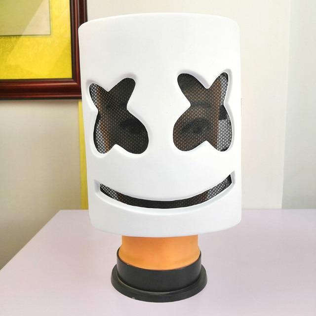DJs шлем мarshmello музыкальный фестиваль Зефир маска на голову Новинка костюм вечерние резиновые ПВХ маски белый