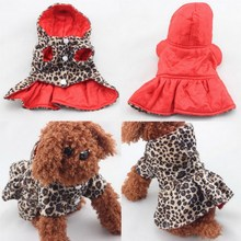 2016 Fasion Pet Dogs Leopard Dress Tops Puppy Cotton Hoodie Clothes XS-Xl Costumes