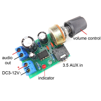 LM386 10 Вт аудио усилитель плата моно 3,5 мм DC 3-12 в регулятор громкости Мини AMP Модуль Регулируемый громкость