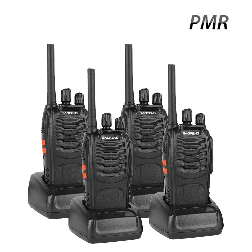 4 PC Baofeng BF-88E PMR Walkie Talkie UHF 446 MHz 0.5 W 16 CH Hamheld - Radios