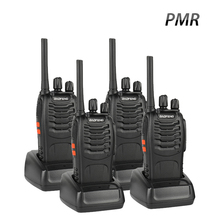 4 PCS Baofeng BF-88E PMR Walkie Talkie UHF 446 MHz 0.5 W 16 CH Handheld Ham Two-way Radio with USB Charger for EU User