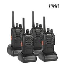 4 PCS Baofeng BF-88E PMR Walkie Talkie UHF 446 MHz 0,5 W 16 CH Handhållen skinka Tvåvägsradio med USB-laddare för EU-användare