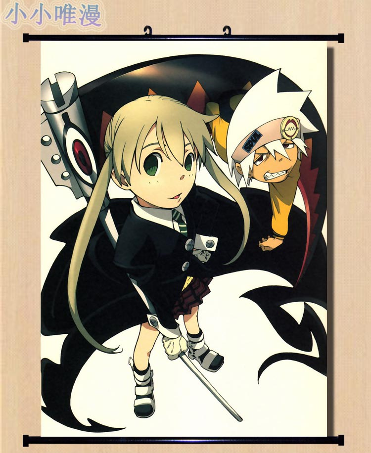 Japanese Decorative Picture Anime Soul Eater Black Star & Death The Kid & Paty Topuson & Stein Home Decor Wall Scroll Posters Agreeable To Taste Home & Garden