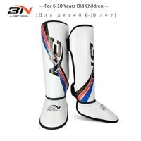 BN Kids Boxing Shin Guards Kick Boxing Protector Karate Taekwondo Training Leg Ankle Protection Children Be Brave Shin Pads