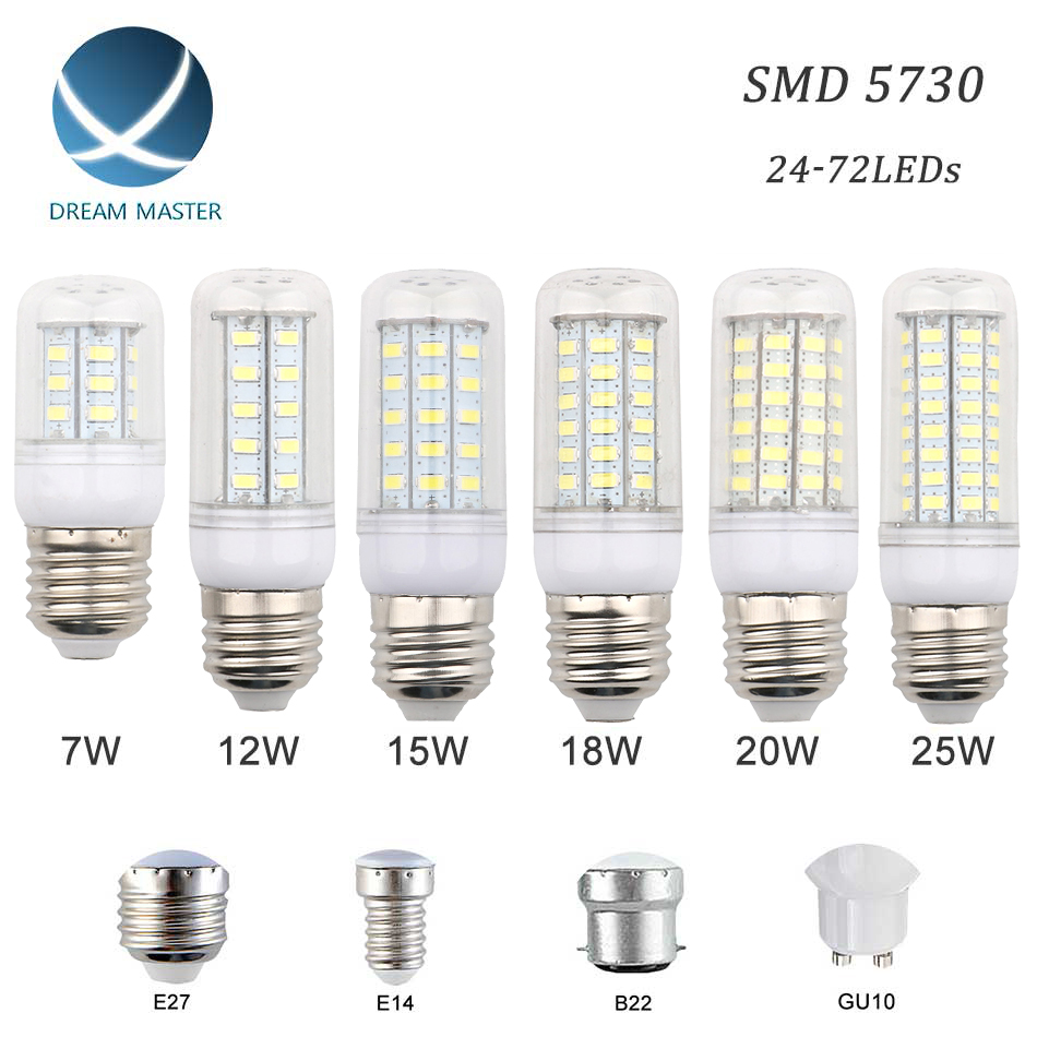 smd 5730 led bulb e27 e14 b22 gu10 led light led lamp led lampada ampoule 220v 12w 15w 18w 20w. Black Bedroom Furniture Sets. Home Design Ideas