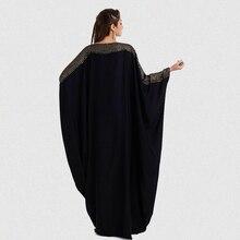 plus size S~6XL quality new arab elegant loose abaya kaftan islamic fashion