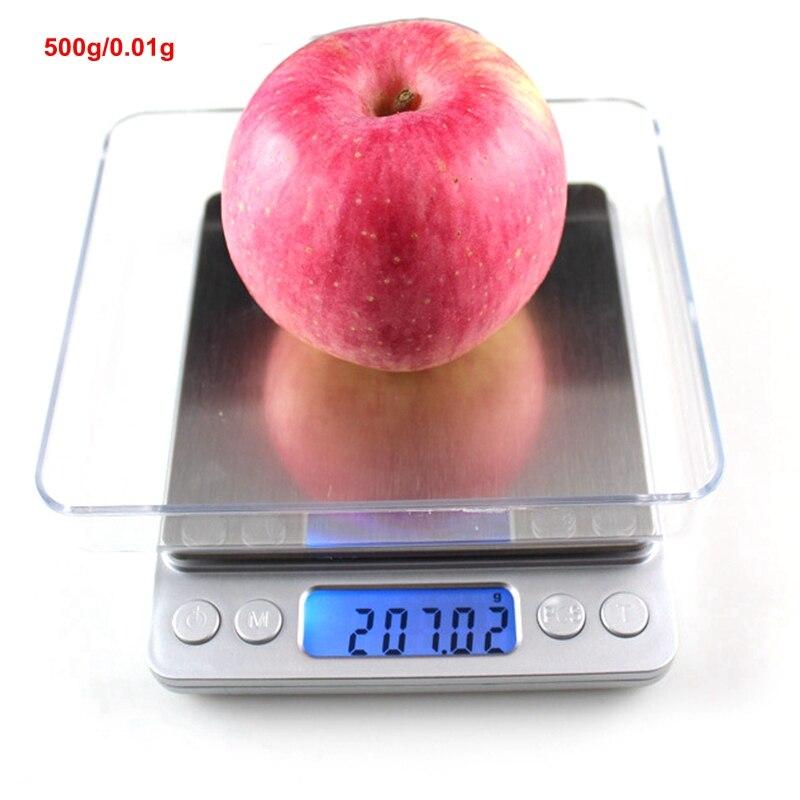 500g x 0,01g Mini Waage Digitale Küchenwaage für Lebensmittel Obst Schmuck Balancen