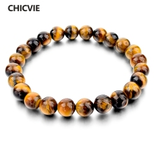 CHICVIE Tiger Eye Love Buddha Bracelets Bangles Trendy Natural Stone Bracelet For Women Famous Brand Men