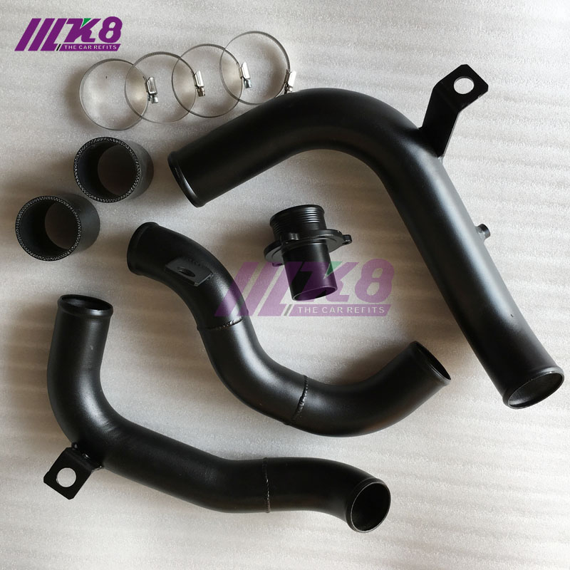Online Shop Throttle Outlet Pipe Turbo Muffler Delete Golf GTI Rabbit MK7 A3 S3 Cupra 280 BOOST PIPE KIT Charge