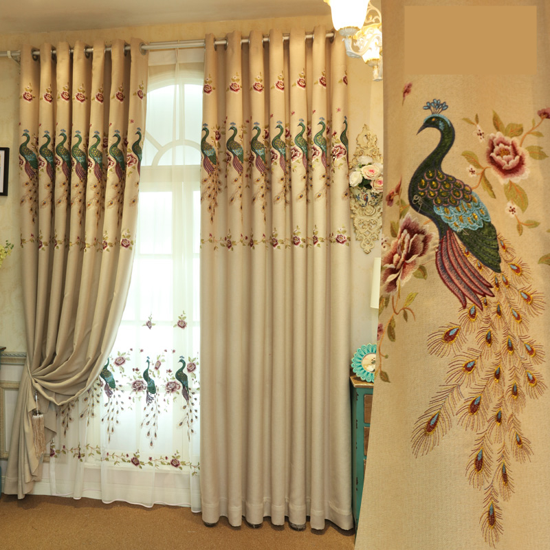 Popular Peacock Curtain Fabric Buy Cheap Peacock Curtain