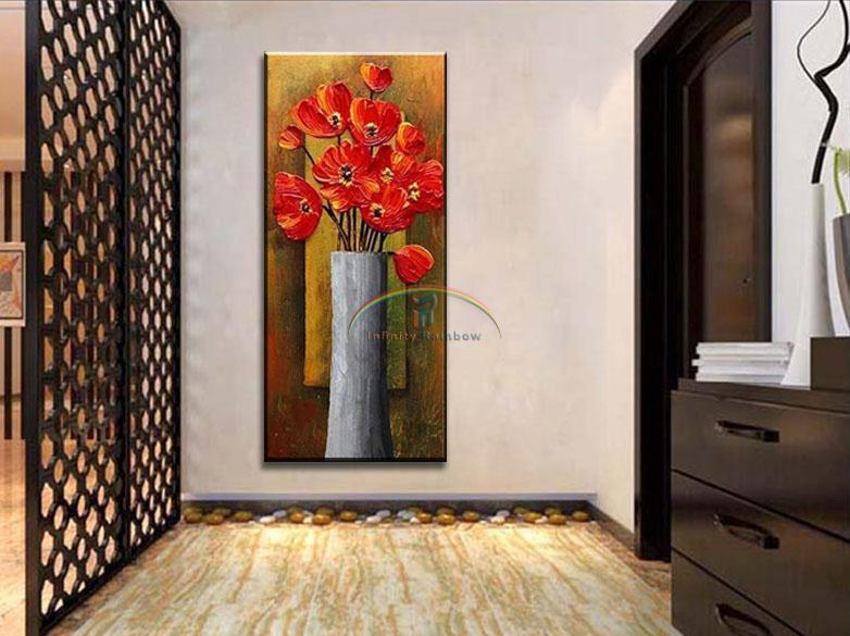 2016 Home Decor Hot Sale Butterfly Orchid Oil Painting Wall Art Hand painted Modern On Canvas
