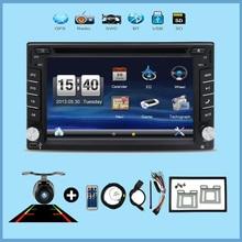 Video del coche de 2 din coche reproductor de dvd universal monitor USB SD GPS Audio estéreo en el tablero de auto Bluetooth monitor + Cámara de Aparcamiento Para VW