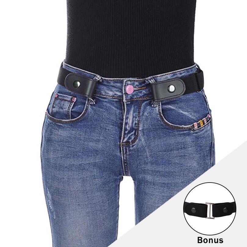AWAYTR hebilla cinturón elástico para mujeres sin hebilla cinturón elástico para Jeans vestidos sin hebilla cinturón negro para cintura Multifunción LED eléctrico, matamoscas, raqueta, matamoscas, disparador antimosquitos, sin batería