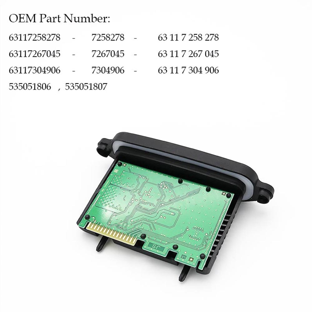 5 Series F10 F11 F07 63117258278 TMS Halogen daytime 63117267045 running light module For 63117304906 car
