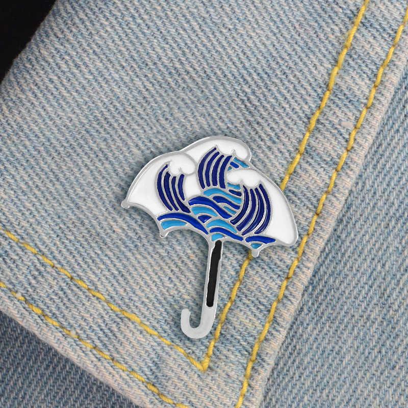 七宝ドリップオイルブローチ波パターンアイスキャンデーデザインのドロップオイルブローチジュエリーデニムジャケットジュエリー