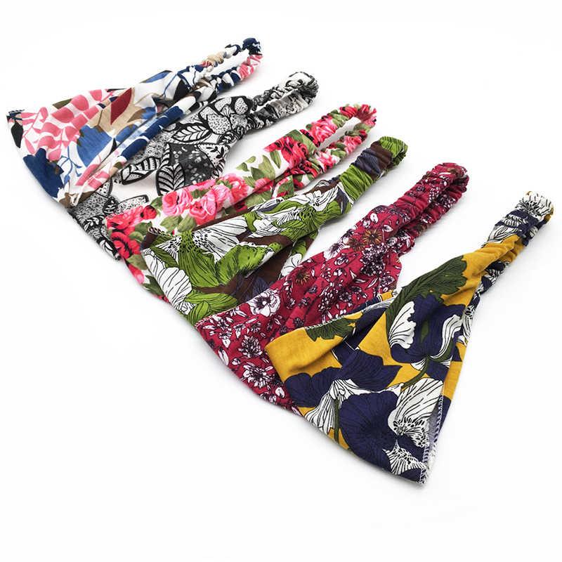 Bandeau BOHO en coton extensible pour femmes | Bandeau, bandeau, bandeau, bandeau, large coton, bandeau, bandeau