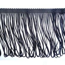 10 см в ширину 4 дюйма в ширину черное бахромчатое платье бахрома, ремесло, мода, 2 метра AA7726