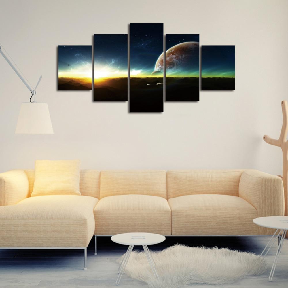 Living Room Art Paintings Aliexpresscom Buy Sunrise Canvas Painting Horizon Painting Wall