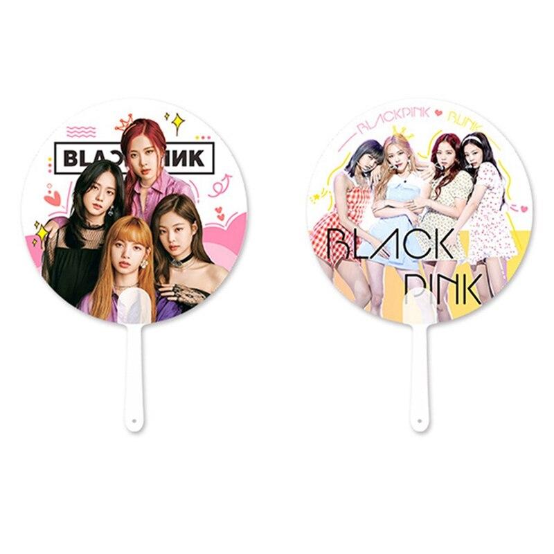 Fans Gifts BLACKPINK Props New BLACKPINK Album Fan Portable Transparent PVC  Fan Concert Support Fan