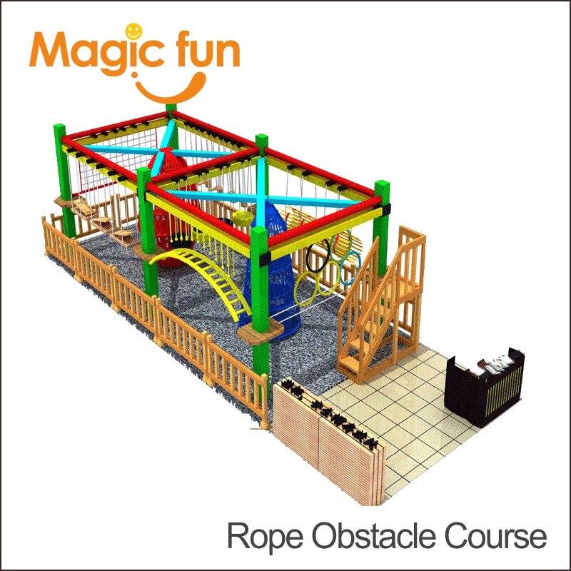 Волшебный весело детский Крытый Батутный высокого Приключения оборудование для детских площадок курса веревочки для торгового центра пло