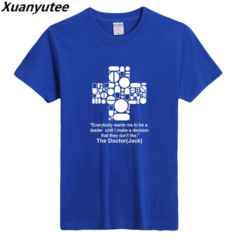 Xuanyutee The Doctor Fan T-shirt Men Summer New O-neck Short Sleeve 3XL Colored Doctor Who Lover Fashion Cotton Tee Shirt Homme