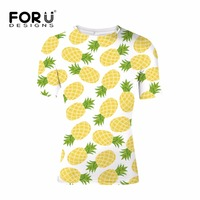 FORUDESIGNS Pineapple T shirt Mens Casual Clothing Summer t shirt Men Casual Simple tees Shirts Male Boys Tops XS S M L XL XXL