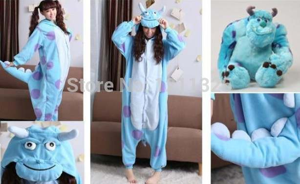 07e7ffc572 Online Shop Free shipping New Adult Unisex High Quality Purple Dot Sulley  Monsters Inc.Pajamas Onesie Jumpsuit Cosplay Costume Free Shipping