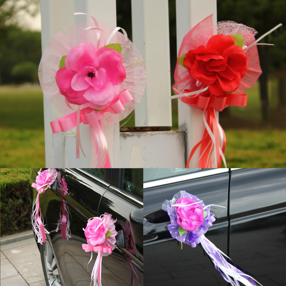 6 pcs set wedding car handle lace flowers decoration wedding 6 pcs set wedding car handle lace flowers decoration wedding creative birthday party festival banquet wedding decor in party diy decorations from home izmirmasajfo