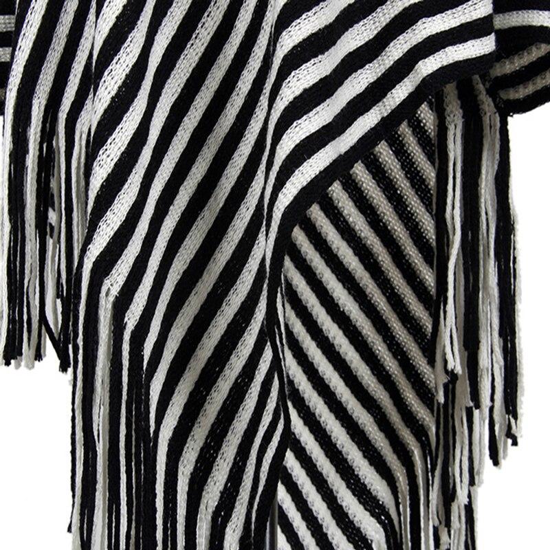 E Jersey Mujeres Invierno Tops Otoño Capa Mujer Borla Moda Chal  Irregularidad Rayas De Suéter Suéteres Oblicuo q1TtUt 528886adc020