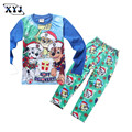 2016 Autumn Pyjamas Kids Girls Pajamas Sets For Boys Christmas Dog Printing Pijamas Girls Sleepwear For Boys Children Clothing