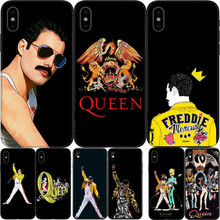 Freddie Mercury Rainha banda Soft Phone silico TPU caso de telefone Para coque iPhone 7 case 4 5 6 8  X Plus Fundas Coque Capa