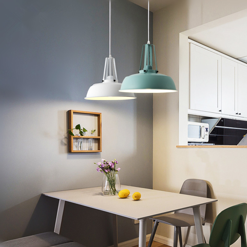 Nordic design led pendant lamp minimalism Matte metal luminaires dining room light fixture foyer/loft/kitchen e27 led hanglamp цена