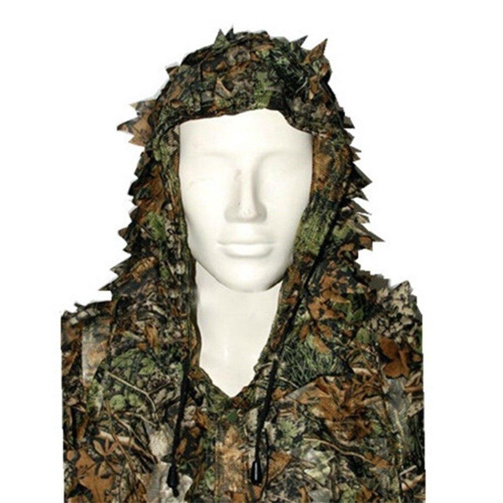 3D Verlässt Camouflage Poncho Mantel Stealth Anzüge Outdoor Woodland CS Spiel Kleidung Universal für Jagd Schießen
