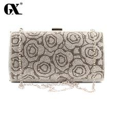 GX Top-handle Bags Diamonds Day Clutch Purse Evening Bags Mixed Color Rhinestones Evening Bag Small Handbags Tote Wallets Clutch