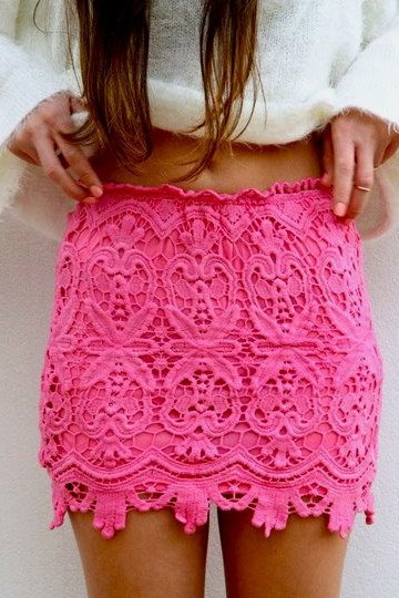 Sexy Mini Hook Flower Crochet Pencil Skirt Lace Petticoat High Waist Bodycon Lace Female Vintage Ladies Pencil Skirt