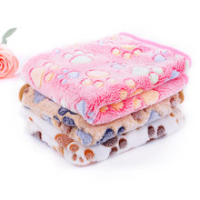Warm Winter Pet Dog Bed Blanket Coral Fleece Soft Touch Large Size Printed Cat Sleeping Quilt Mats Home Decoration Pets Product(China)