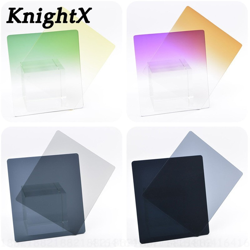 Honest Knightx Gradient Nd Red Yellow Filter Holder For Canon Camera Nikon Sony Cokin P Set Photo Lens Color Dslr Accessories Nd8 16 Bright And Translucent In Appearance