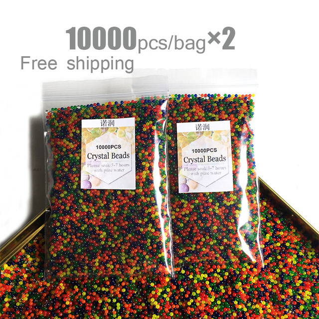 20000pcs/bag Crystal Soil Hydrogel Gel Polymer Water Beads Orbiz Flower/Wedding/Decoration Growing Water Balls Big Home Decor 1