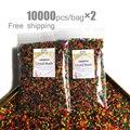 Гидрогелевые полимерные шарики для украшения, 20000 шт./пакет, орбиз, цветы, свадьбы, набухание, домашний декор