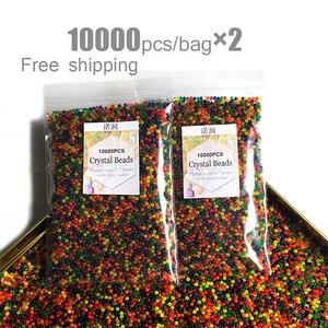 20000pcs/bag Crystal Soil Hydrogel Gel Polymer Water Beads Orbiz Flower/Wedding/Decoration Growing Water Balls Big Home Decor(China)