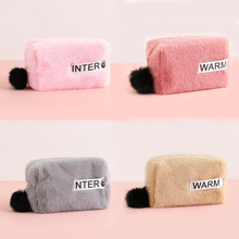 Kawaii Plush pencil Case for Girls cute pencil bag large capacity School Supplies materials Stationery Gifts Pencilcase