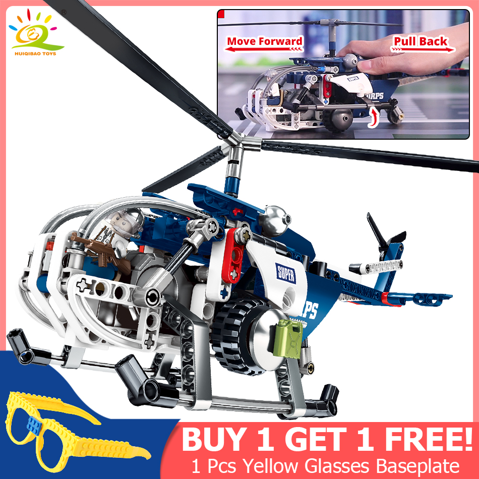 251pcs Military Helicopter Pullback Building Blocks Compatible Legoingly Technic city police brick Educational Toys for children