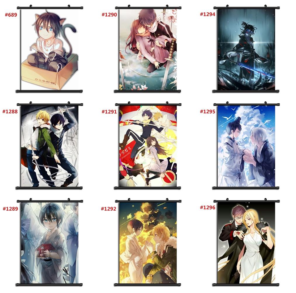 Anime Noragami Yato Yukine Wall Scroll Poster Home Decor Cosplay 1292