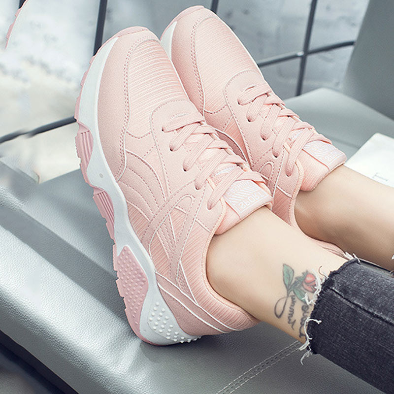 Women Sneakers Running Shoes 2019 Breathable Mesh Solid Casual Ladies Shoes Woman Fashion Sneakers Women Shoes Zapatillas Mujer