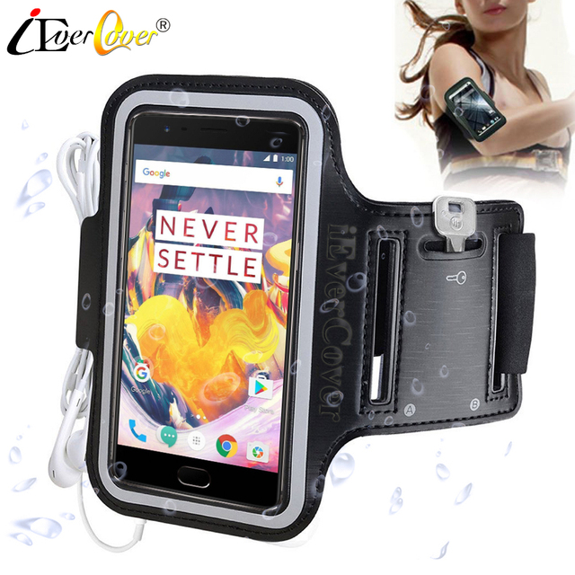 low priced 4f409 dae20 US $2.99 25% OFF|iEverCover Running Arm Band Case for OnePlus 6T A6010  A6013 6 A6000 5T A5010 5 3T Gym Waterproof Exercise Phone PU Leather  Cover-in ...